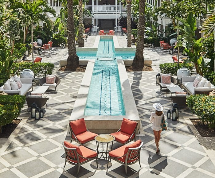 Ocean Club courtyard