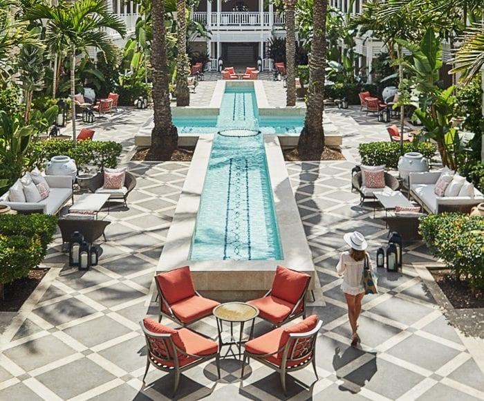 Ocean Club courtyard