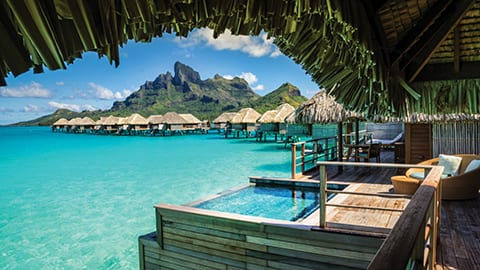 View Mount Otemanu from your private overwater bungalow