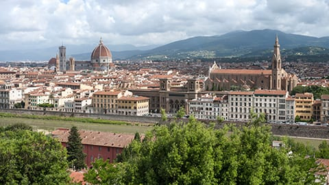 Hot-air balloon views in Firenze