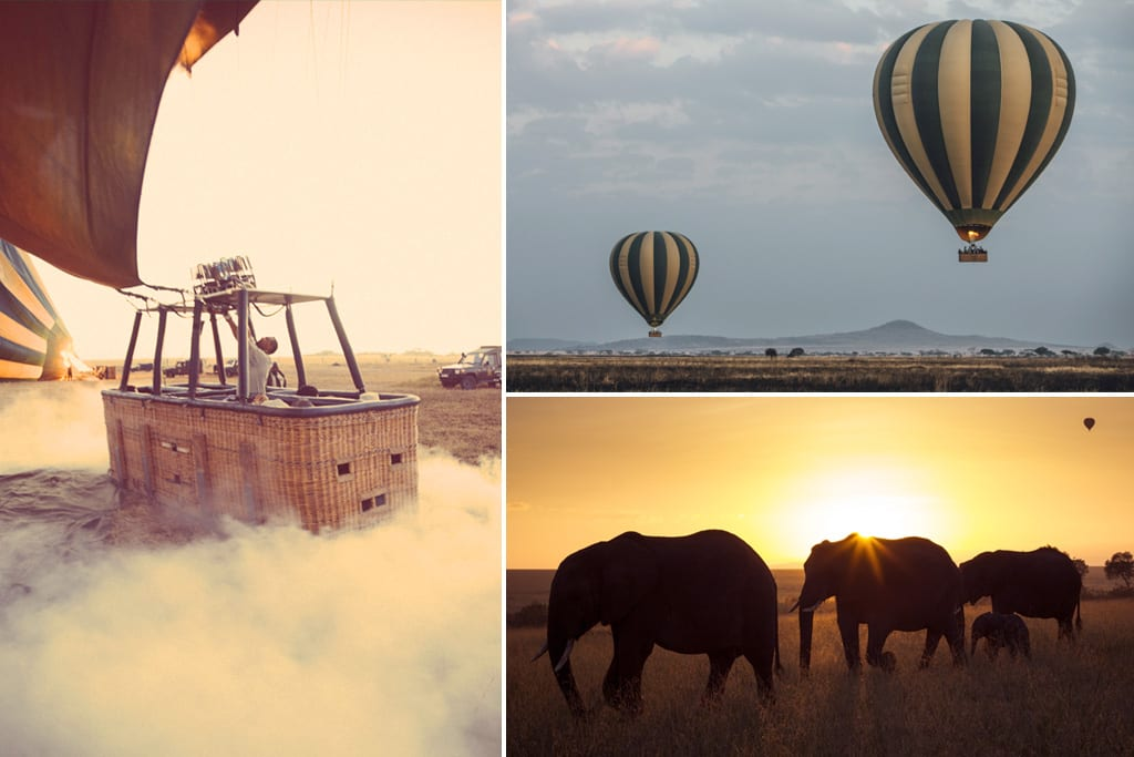 Serengeti hot-air balloon ride