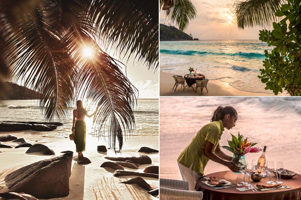 Seychelles beach dinner