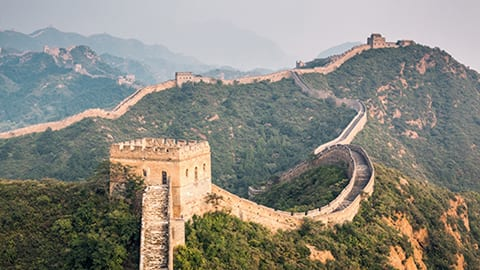 Over the Great Wall of China