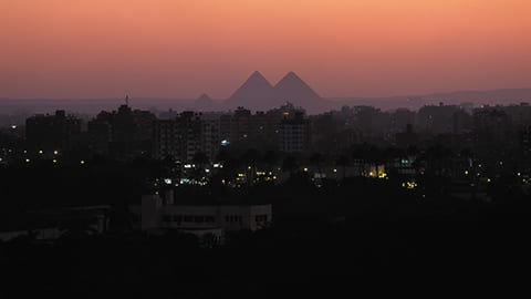 Sunset Over Giza