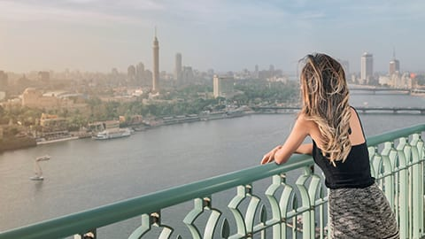 View Overlooking the Nile - Four Seasons Cairo at Nile Plaza
