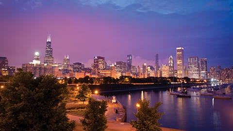 Scenic Chicago Skyline