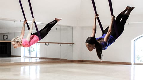 Defy Gravity with Aerial Yoga