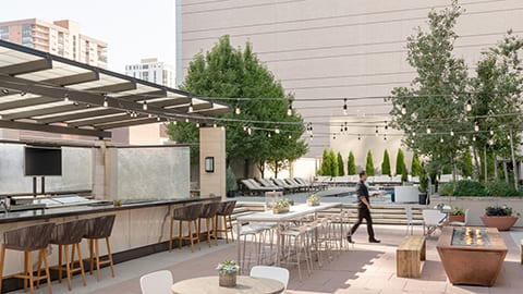 Third-floor Pool Terrace - Four Seasons Denver