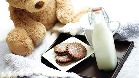 Kids Cookies and Milk