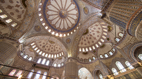 Interior detail of the iconic Blue Mosque