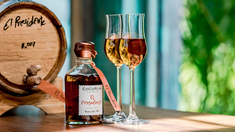 El Presidente, the private-label barrel-aged rum made by expert barkeep, Khun Mee