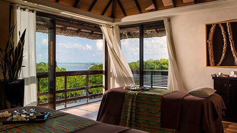 Massage with a view of Mauritius