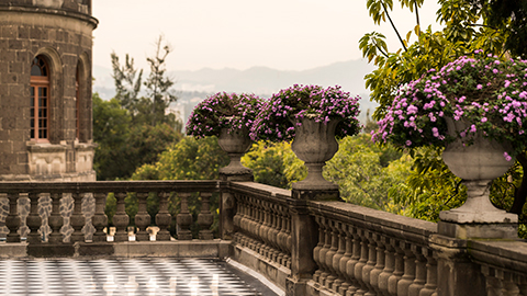 Terraces of Castillo de Chapultepec