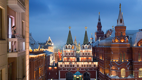 Views of Moscow from room terrace