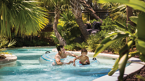 Lazy River fun at Resort water park