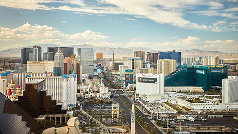 View of Las Vegas Strip
