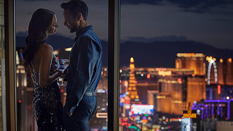Floor-to-ceiling Windows Overlooking the Vegas Strip