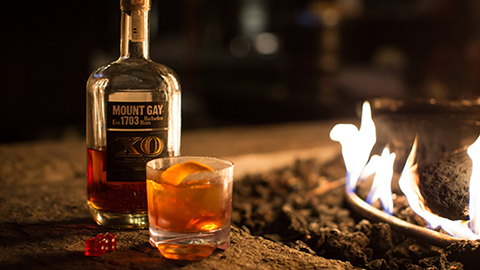Enjoy drinks by the fire