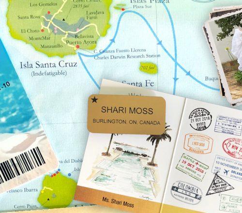 Shari Moss private jet memorabilia