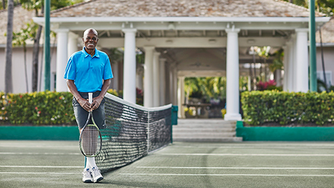 Tennis Pro Leo Rolle