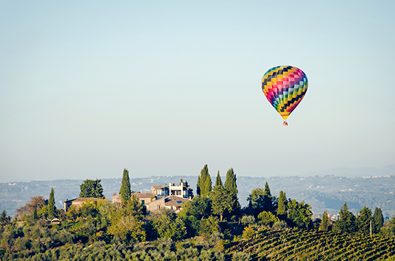 Float over Florence and Tuscany