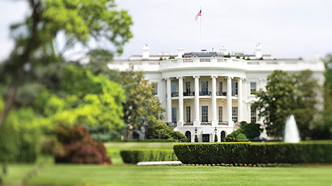 White House and lawn