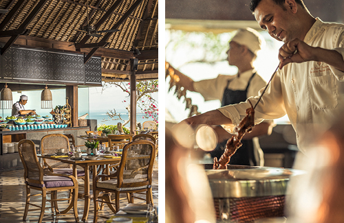 Four Seasons Bali Jimbaran Bay restaurant and chef