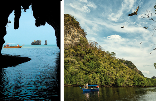 Boating and Caves in Malaysia