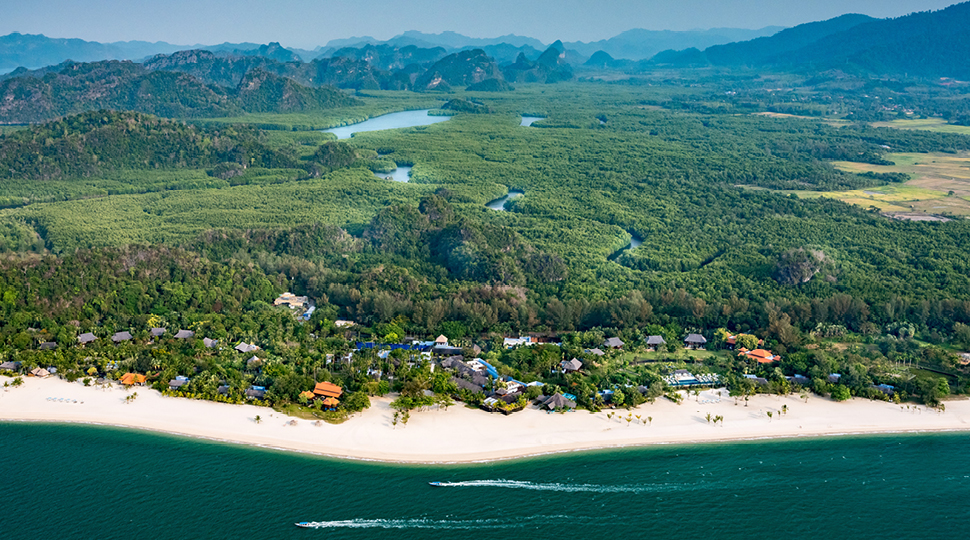 Aerial of Four Seasons Resort Langkawi