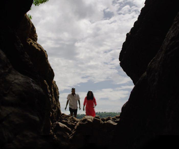 Hari Deepti enter a beach cave