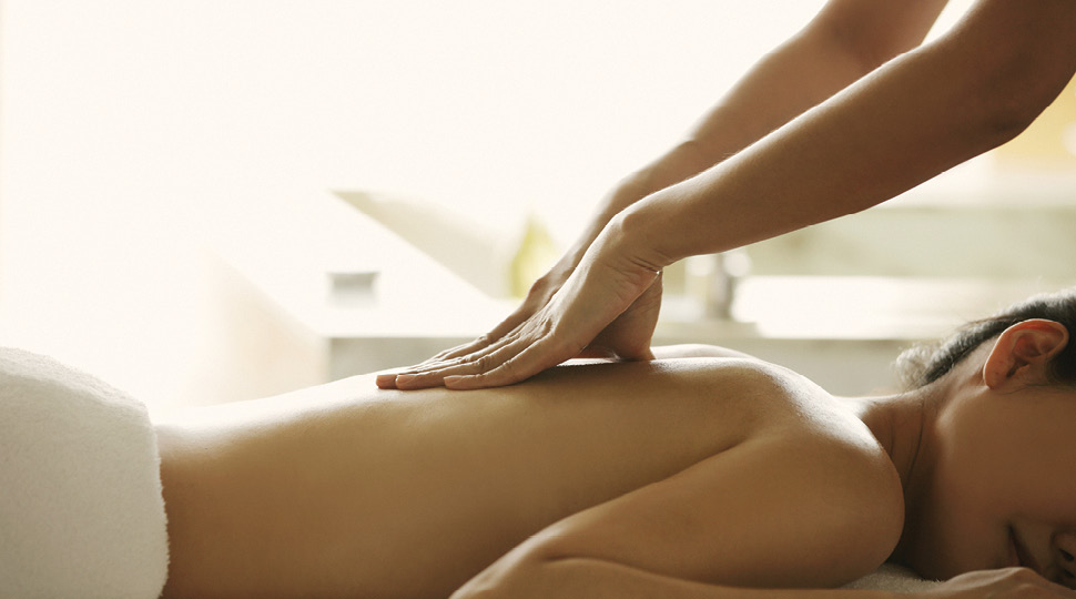 A woman being given a massage