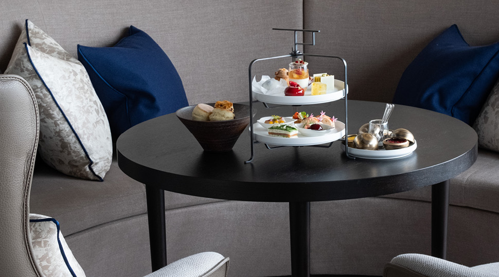 A table set for afternoon tea